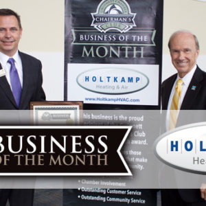 Holtkamp Heating & Air Named Chairman's Club Business of the Month for April 2017