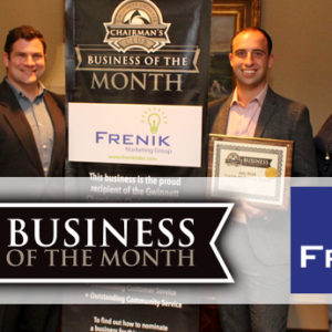 Frenik Marketing Named July 2018 Chairman's Club Business of the Month