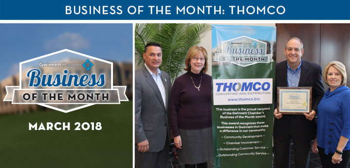 Thomco Named Business of the Month for March 2018