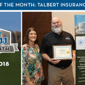 Talbert Insurance Services Named October 2018 Business of the Month