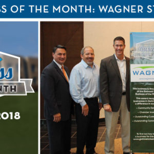 Wagner Staffing Named November 2018 Business of the Month