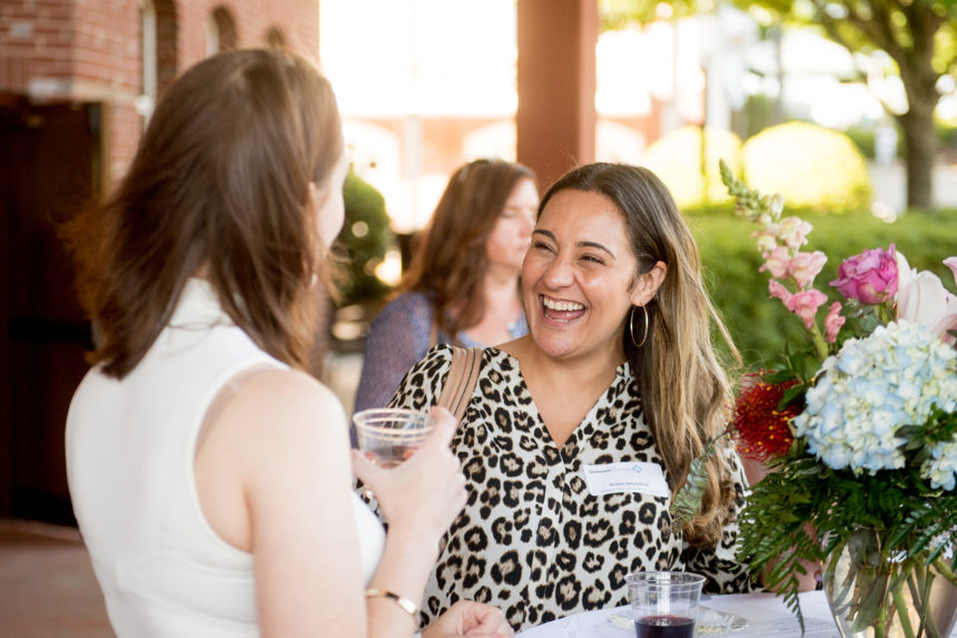 Toasting to connections in Duluth Town Green