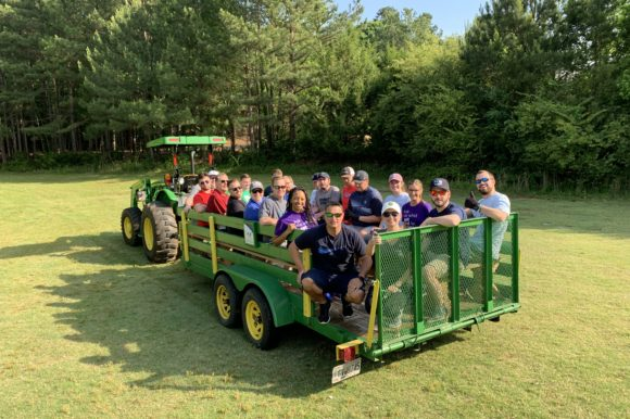 Gwinnett Chamber members give back at McDaniel Farm Park