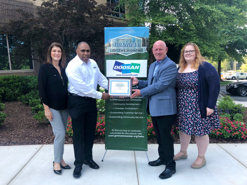 Doosan Industrial Vehicle America Corp. named July Business of the Month