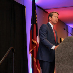 Governor Brian Kemp addresses the Gwinnett Chamber