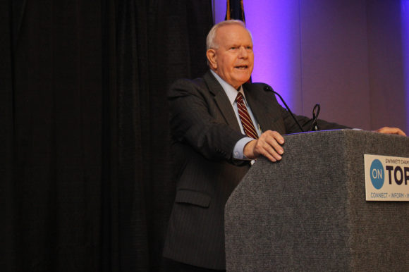 CEO/Superintendent J. Alvin Wilbanks delivers the State of the Schools Address