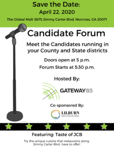 Gateway85's Candidate Forum @ The Global Mall |  |  |