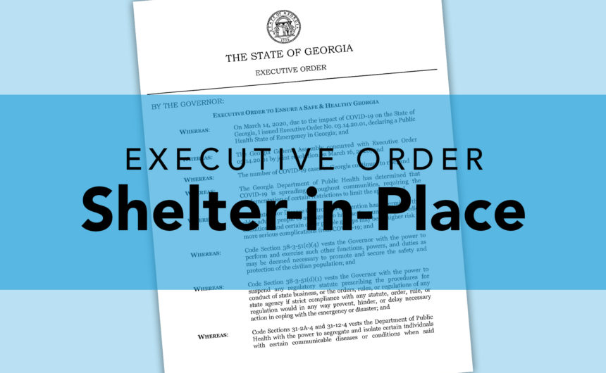 Governor Kemp issues shelter-in-place order