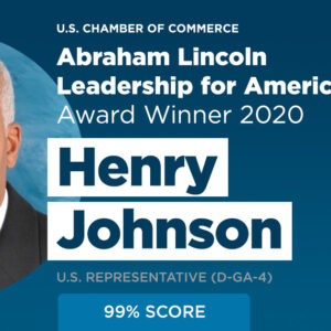 Gwinnett Chamber Congratulates Congressman Hank Johnson – Recipient of the U.S. Chamber's Abraham Lincoln Leadership for America Award