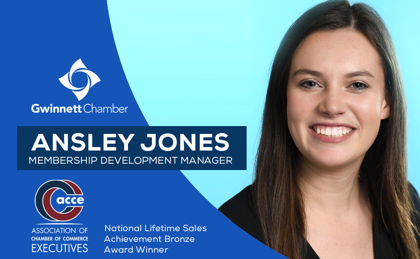 Membership Development Manager Ansley Jones recognized for ACCE sales award