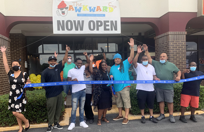 The Awkward Cup Sorbet, Smoothie & Juice Bar celebrates grand opening