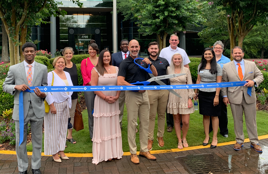 High Tech Commercial Cleaning celebrates ribbon cutting